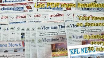 Lao PDR news headlines
